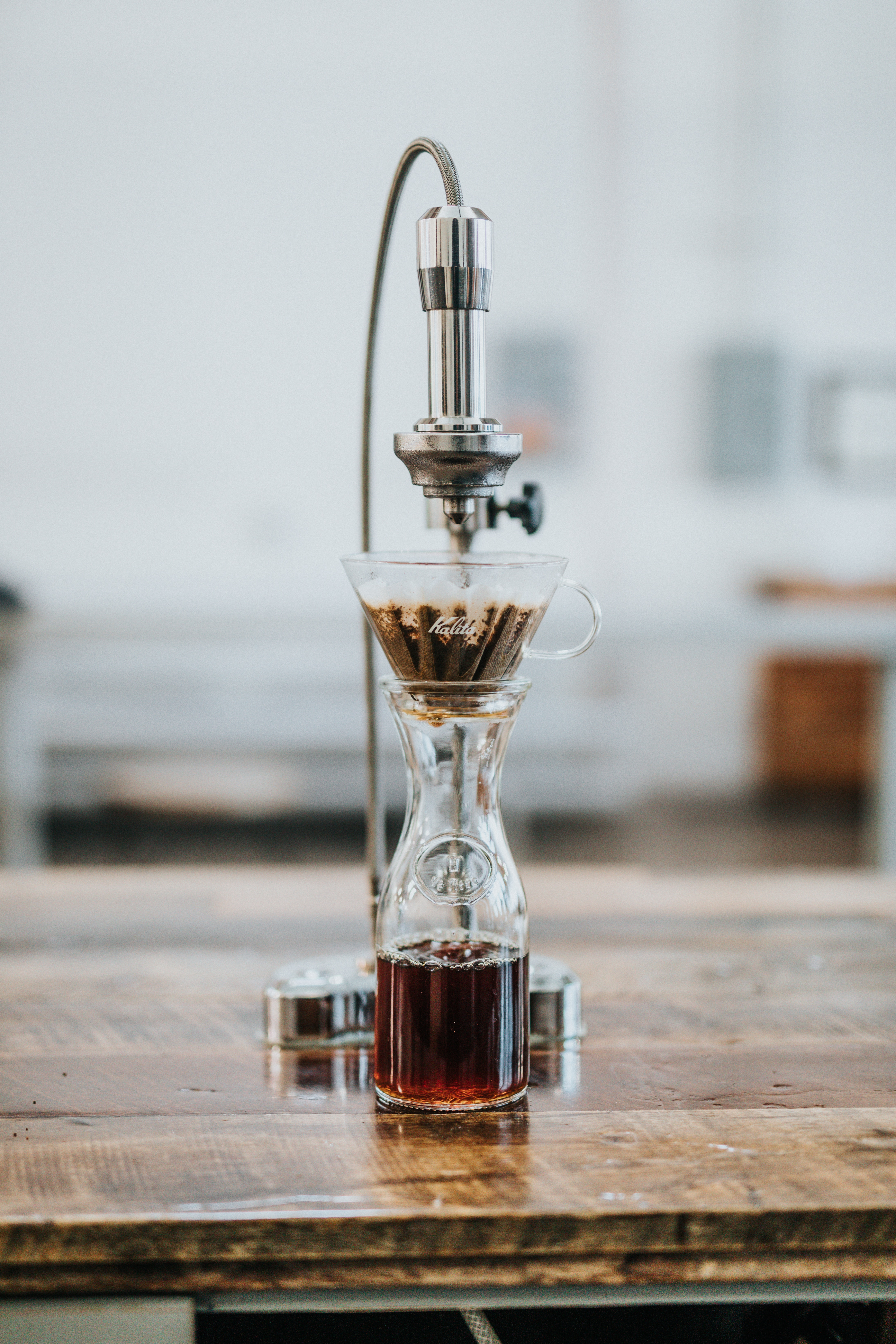 fancy pour over coffee machine
