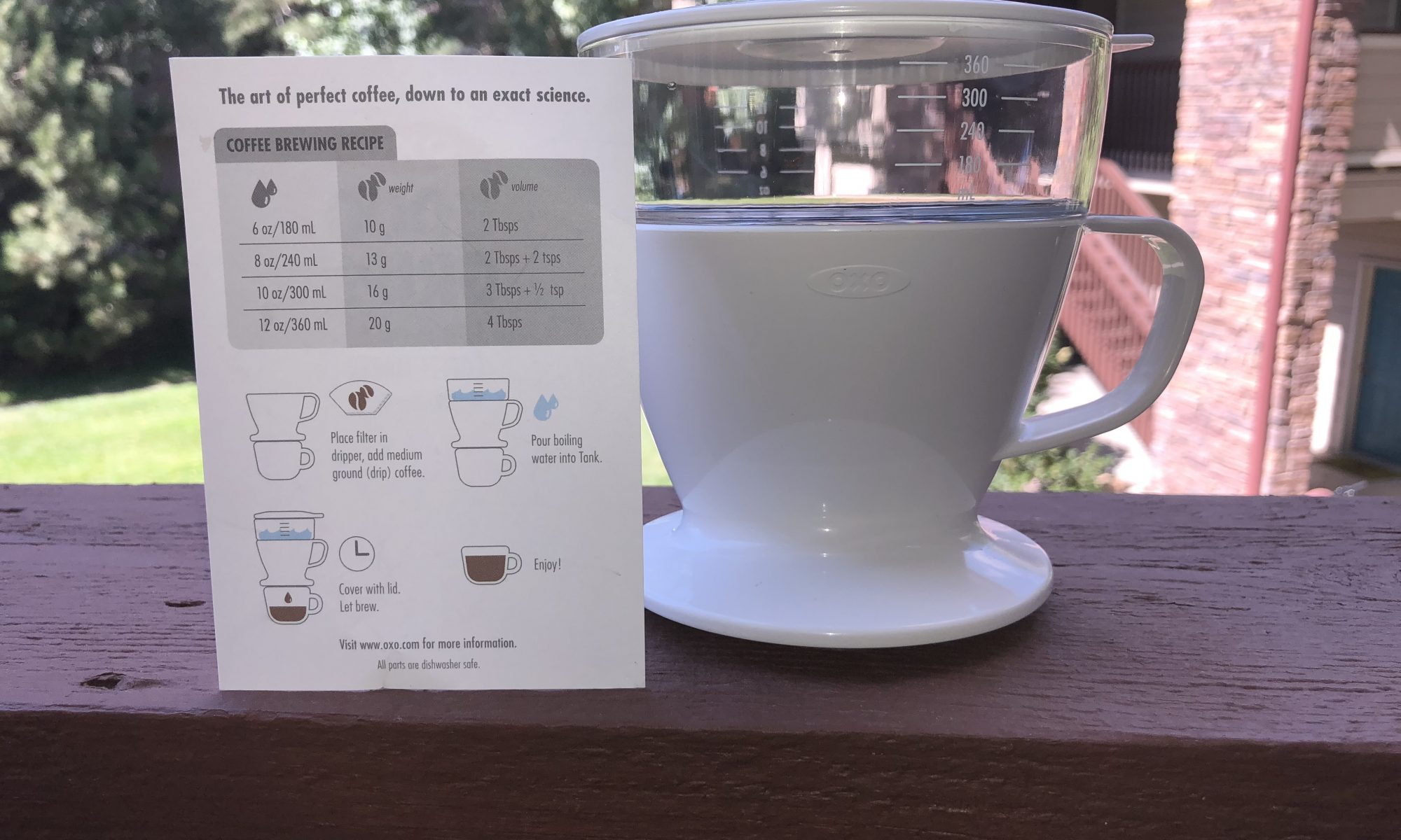 Review Of The Oxo Good Grips Pour Over Auto Drip Water Tank Low